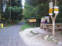 turistické rozcestí Pod Dívčí strání