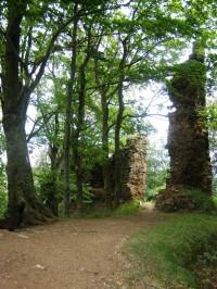 zřícenina hradu Bradlec