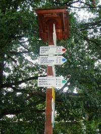 turistické rozcestí Na Krásné vyhlídce