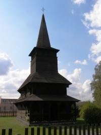 Dobříkov - dřevěný kostel Všech Svatých