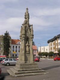 Kostelec nad Orlicí - sloup Nejsvětější Trojice
