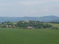 Rozhledna na Dobrošově - výhled směrem k pevnosti Můstek
