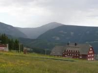 výhled na Sněžku a Obří důl