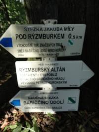 turistické rozcestí u Rýzmburského altánu