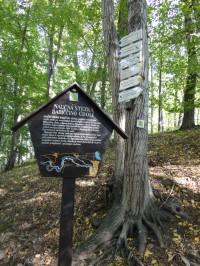 turistické rozcestí pod Rýzmburkem