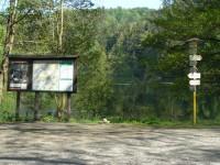 turistické rozcestí u rybníku Vidlák
