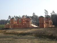Rytířské hradiště (dětský hrad) v hradeckých lesích