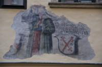 Olomouc – goticko-renesanční freska vinného šenku v Univerzitní ulici