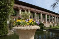 Lysice - sala terrena a vyhlídková kolonáda v zámeckých zahradách