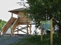 Chomoutov (u Olomouce) - ptačí pozorovatelna na Chomoutovském jezeře