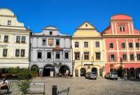 Český Krumlov – náměstí Svornosti, skutečné historické centrum města