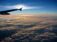 ráno v letadle