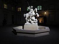 Bratislava – kašna sv. Jiří  (fontána Svätého Juraja s drakom)