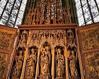 křídlový hlavní oltář Hanse Seyfera