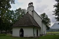 Bovec - kostel Panny Marie v poli  (Cerkev Device Marije v polju)