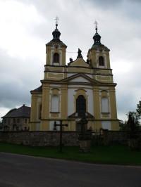 Ostružno (u Jičína) – barokní kostel Povýšení sv. Kříže