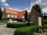 sokolovna a kaple P.M. Lurdské