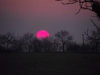 západ slunce nad Petrůvkou