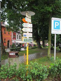 Frymburk - nám (turistický rozcestník)