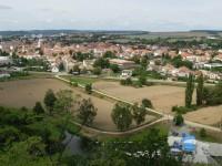 Výhled na Ivančice z rozhledny A.Muchy