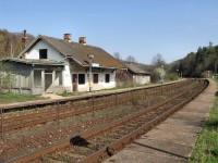 Opuštěná vlaková zastávka Jestřabice