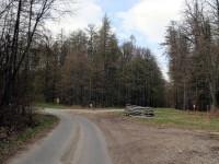 Křížení pěších tras a cyklotras U Slepice