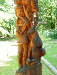 Dřevěná socha sv.Huberta