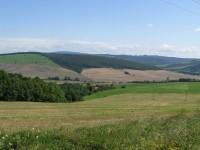 Výhled na údolí potoka Teplica