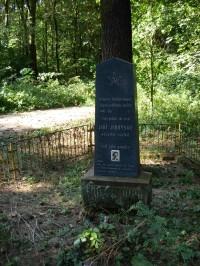 Pomník partyzánovi, který při přestřelce zahynul
