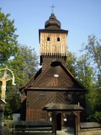Jedna z budov Dřevěného městečka
