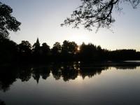 Podvečer na Černívském rybníku