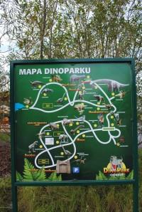 Mapa Dinoparku