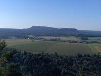 Z Dolního Žlebu na Kleiner Zschirnstein.