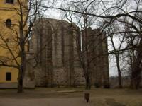 Panenský Týnec - nedostavěný kostel