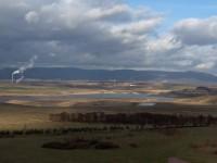 pohled na vznikající jezero