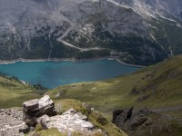 Sedlo a jezero Fedaia