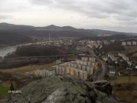 výhled ze zříceniny hradu Strážný