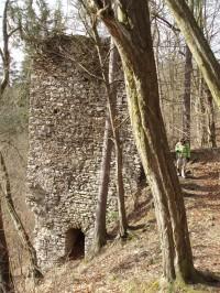 zachovalé části hradu