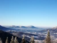 výhled na vrchol Skalky a Stolovou horu