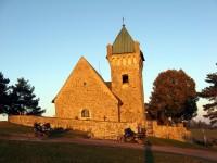 Vítochov-kostel sv.Michaela při západu slunce
