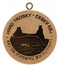 Turistická známka č. 149 - Hrad Trosky