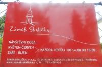 zámek Skalička - cedule