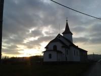 Crhov u Štítů - kaple zasvěcená Cyrilu a Metoději a pomník obětem I.a II.Sv.války