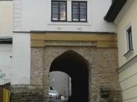 Mohelnice - Vodní brána (severní, jediná dochovaná ze čtyř)u Pekařského domu