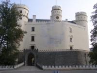 zámek Orlík na Vltavou čelní pohled