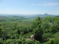 výhled z hradu Kamýk