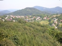 Pohled na Kamenický Šenov a Studenec