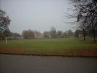 Fotbalové hřiště v centru obce
