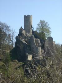 Celkový pohled na hrad Frýdštejn