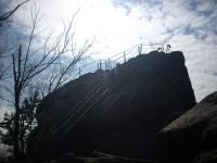 Sluneční záře nad Popovou skálou